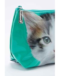 Urban Outfitters Green Kitten Make Up Bag in Medium