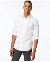 Armani Jeans - White Mini-logo Long-sleeve Shirt for Men - Lyst