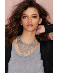 Nasty Gal - Gray Chain Attraction Collar Necklace - Lyst