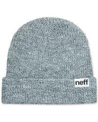 Neff Gray Daily Fold Knit Hat for men
