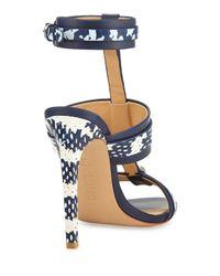 L.A.M.B. Black Bradley T-strap Leather Sandal