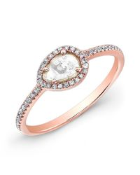Anne Sisteron | Pink 14kt Rose Gold Sasha Diamond Slice Ring | Lyst