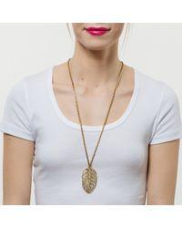 Lulu Frost | Metallic Goldtone Drift Pendant | Lyst
