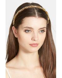 Ficcare - Metallic 'isabella' Swarovski Crystal Headband - Lyst