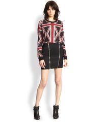 The Kooples - Multicolor British Flag Knit Pullover - Lyst