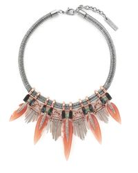 Vince Camuto - Metallic Fringed Collar Necklace - Lyst