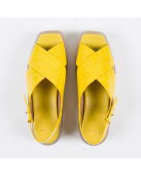 Paul Smith Women's Yellow Mock Croc Leather 'kai' Sandals