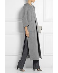 Adam Lippes - Gray Cashmere Coat - Lyst