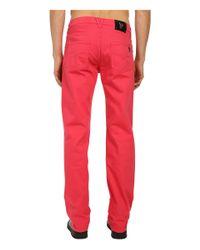 Lyst Versace Jeans Regular Fit Tiger Pocket Pants In Red