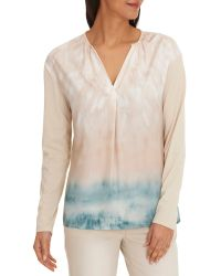 Betty & Co. Multicolor Printed V-neck Blouse