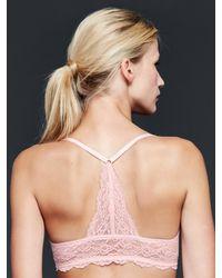 Gap - Pink Favorite Lace-back T-shirt Bra - Lyst