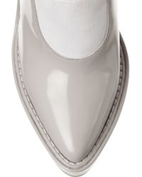 Alexander Wang Gray Marine Patent-leather Pumps