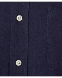 Our Legacy - Blue Navy Slub Silk Short Sleeve Shirt for Men - Lyst
