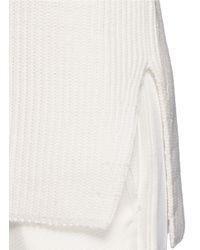 Helmut Lang White Racerback Cotton Knit Tank Top