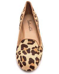 Splendid Multicolor Cannes Haircalf Smoking Shoes Leopard