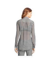 Diane von Furstenberg | Black Lorelei Two Printed Chiffon Blouse | Lyst