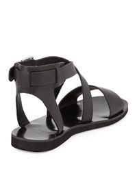Marc Fisher - Black Danae Crisscross Leather Sandal - Lyst