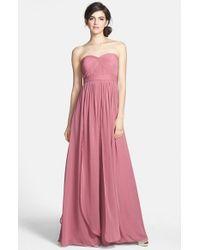 Jenny Yoo | Purple 'aidan' Convertible Strapless Chiffon Gown | Lyst