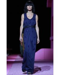 Marc Jacobs Blue Jersey Dress with Belt