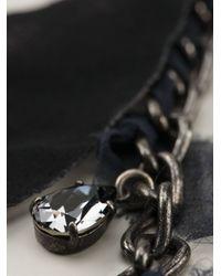 Lanvin - Black Feather Necklace - Lyst