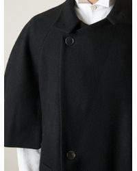Henrik Vibskov Black 'Quiz Cape' Coat for men