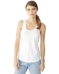 Alternative Apparel - White Satin Jersey Shirttail Tank Top - Lyst