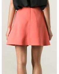 Carven Pink A-line Skirt