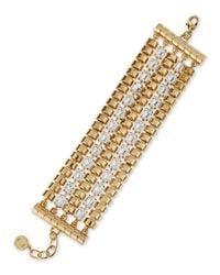 R.j. Graziano - Metallic Flat Line Bracelet - Lyst
