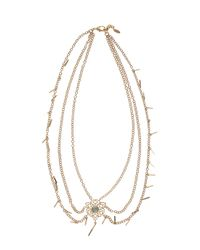 Isharya | Metallic Fligree Necklace | Lyst