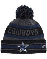 54992b76a Lyst - KTZ Dallas Cowboys Pop Jake Knit Hat in Gray for Men