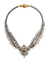 Shourouk - Gray Tabatha Comet Goldtone Swarovski Crystal Necklace - Lyst