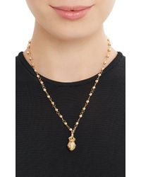 Devon Page Mccleary | Metallic Diamond Gold Millenium Orb Pendant Necklace | Lyst