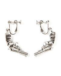 Saint Laurent | Metallic Revolver Earrings | Lyst