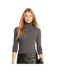Polo Ralph Lauren | Gray Ribbed Merino Wool Turtleneck | Lyst