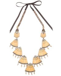 INTROPIA | Metallic Fan Necklace | Lyst