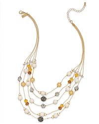 INC International Concepts | Multicolor Gold-tone Cream Illusion Necklace | Lyst