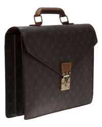 Louis Vuitton Brown Monogram Serviette Briefcase