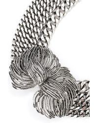 Lizzie Fortunato | Metallic Large Rhodium Chain Ncklce | Lyst