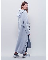 Free People - Blue Fringe For Days Robe - Lyst