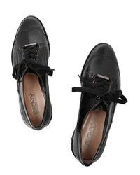 DKNY Black Leia Leather Brogues