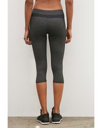 Forever 21 | Gray Active Capri Leggings You've Been Added To The Waitlist | Lyst