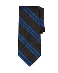 Brooks Brothers | Black Textured Double Stripe Tie for Men | Lyst