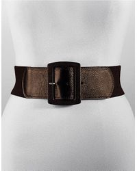 Calvin Klein | Brown Stretch Wide Belt | Lyst