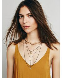 Free People - Metallic Womens Waterfalls Necklace - Lyst