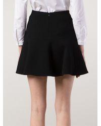 Carven Black A-Line Skirt