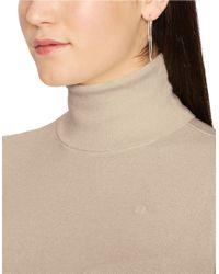 Lauren by Ralph Lauren | Brown Plus Silk-cotton Turtleneck Sweater | Lyst