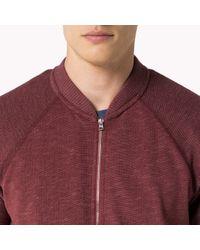 Tommy Hilfiger | Red Cotton Track Jacket for Men | Lyst