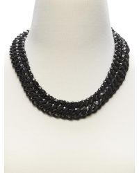 Banana Republic - Gray Woven Curb Chain Necklace - Lyst