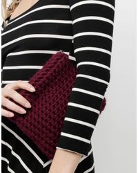 Wool And The Gang | Red Lil' Cosy Up Clutch | Lyst