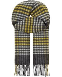 Johnstons | Gray Sports Check Cashmere Scarf for Men | Lyst